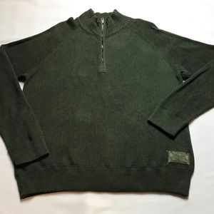 Polo Jeans Co-Forest Green, Ribbed Cotton Sweater